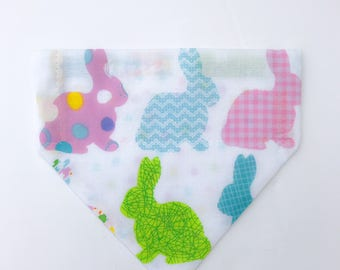 """Over the collar (slide on)  Pet Bandana -  Size EXTRA SMALL - """"Everybunny is a little different"""" bandana"""