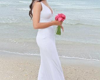 Wedding Dress, Beach Wedding Dress, Lace Wedding Dress, Boho Wedding Dress, White Wedding Dress, Vintage Wedding Dress, Long Wedding Dress