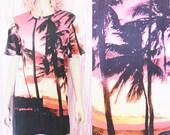 90s SUNSET Oversized Beach T-shirt - 90s clothing - 90s tshirt - 90s vintage - 90s grunge - festival tshirt - boho tshirt, beach wear