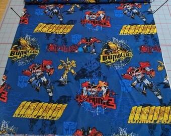 Transformers Prime Badge Cotton Fabric