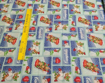 Campbell's Soup Winter Cotton Fabric