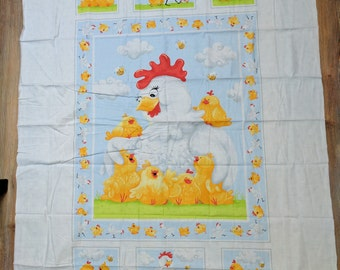 Pippa-Chickens Cotton Fabric Panel from Susy Bee