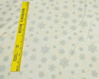 Winter Forest Flannels-Snowflakes on Cream Cotton Flannel Fabric from Holly Taylor for Moda Fabrics
