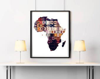 Africa map Etsy