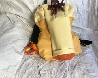 Penis backpack (early prototype preorder), penis shaped bag, junk in your trunk genital bag, cock & balls sack, naturist nude naked knapsack