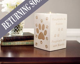 Pawprints in Heaven, Personalized Pet Memorial, In Memory Of, Unique Pet Loss Gifts, Dog Memorial Gift, Memorial Candle, Remembrance Gift