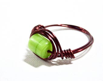 Auburn and Green Ring
