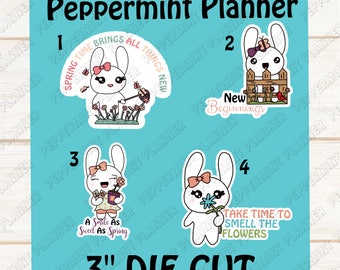 Jellybean Spring Time --- Die Cut --- Hand Drawn Character --- DC03