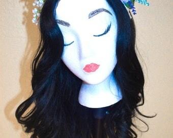 Mickey Ears//Minnie Ears//Mickey Mouse Ears//Minnie Mouse Ears//Hair Accessories//Lavender//Pastel// Flowers//Disney//Flower Crown