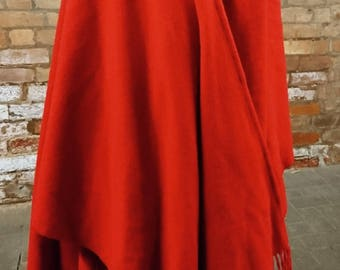Vintage 70's red Cape, wrap around Cape, vintage summer cover up