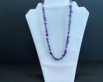 Amethyst and Serpentine Necklace