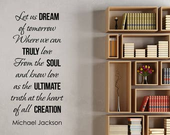 Michael Jackson Quote Wall Sticker Vinyl Lettering Motivational Decal American Singer King of Pop Art Home Room Inspirational Decor jq2