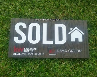 Sold sign, realtor sign, realtor logo photo prop, social media sign, new homeowner sign, closing sign, customize with your branding and logo
