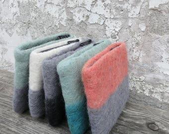 LILA Handmade Felt Purse in various colours