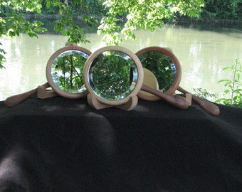 Wooden Handheld Mirror