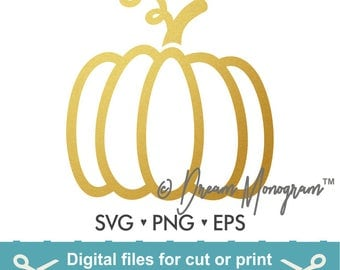 Pumpkin Svg / Thanksgiving Svg / Pumpkin Svg / Halloween Svg / Cutting files for use with Silhouette Cameo and Cricut