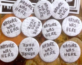 Nature Was Here buttons