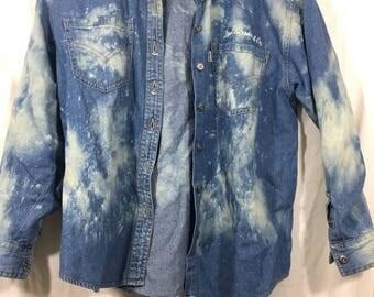 RARE Vintage Levis Strauss Denim Jean Shirt Jacket L Large Womens