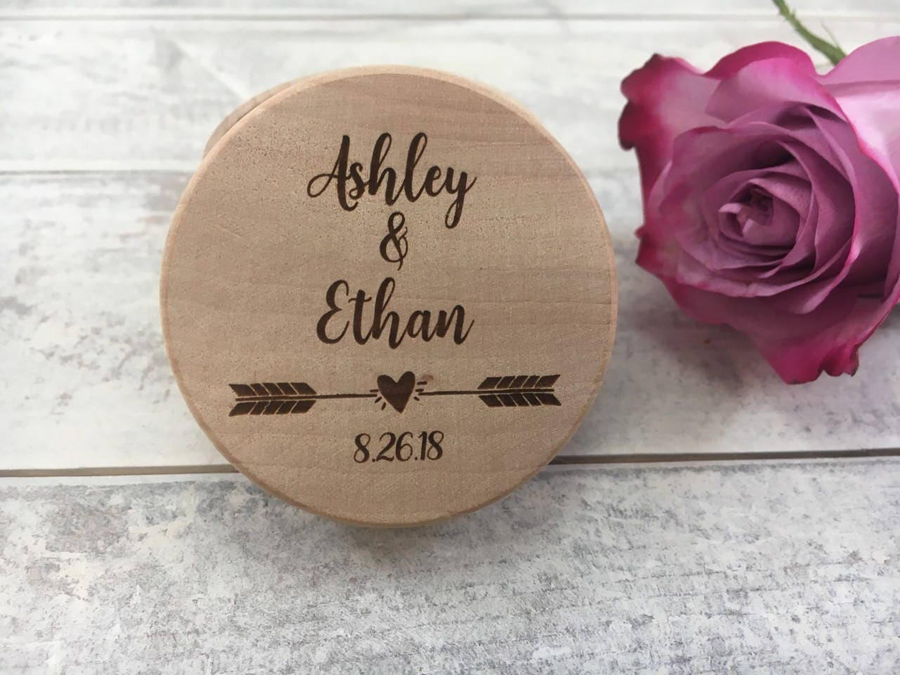 Personalized Ring Box Engraved Wedding Ring Box Small Ring Box