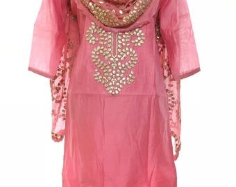 Blush Pink Gota Patti Suit for 34 to 36 inches