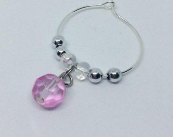 Multi colored crystal wine charms