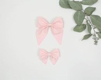 Sailor Bow, Light Peachy Pink Sailor Bow, Large Sailor Bow, Small Sailor Bow, Sailor Bow Headband, Sailor Bow Hair Clip