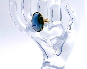 Jet Gold Ring