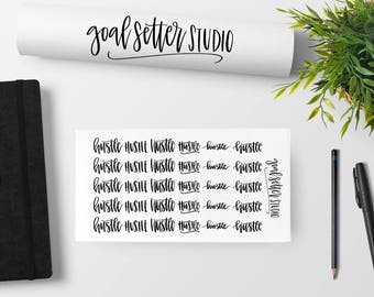 Hustle Stickers | Motivational, inspirational, planner stickers