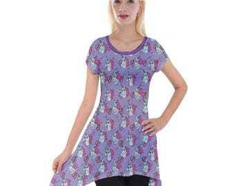 Flying Princess Pony Head Tunic - Short Sleeve Tunc Star vs. The Forces of Evil Tunic Cartoon Tunic Unicorn Tunic Plus Size Tunic