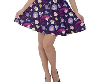 Team Rocket Skirt - Skater Skirt Pokemon Skirt Anime Skirt Plus Size Skirt Cartoon Skirt Jessie Skirt James Skirt Meowth Skirt