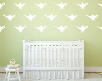 Genie Lamp Decal - Kids Wall Sticker - Nursery Decor Wall Pattern | PP190