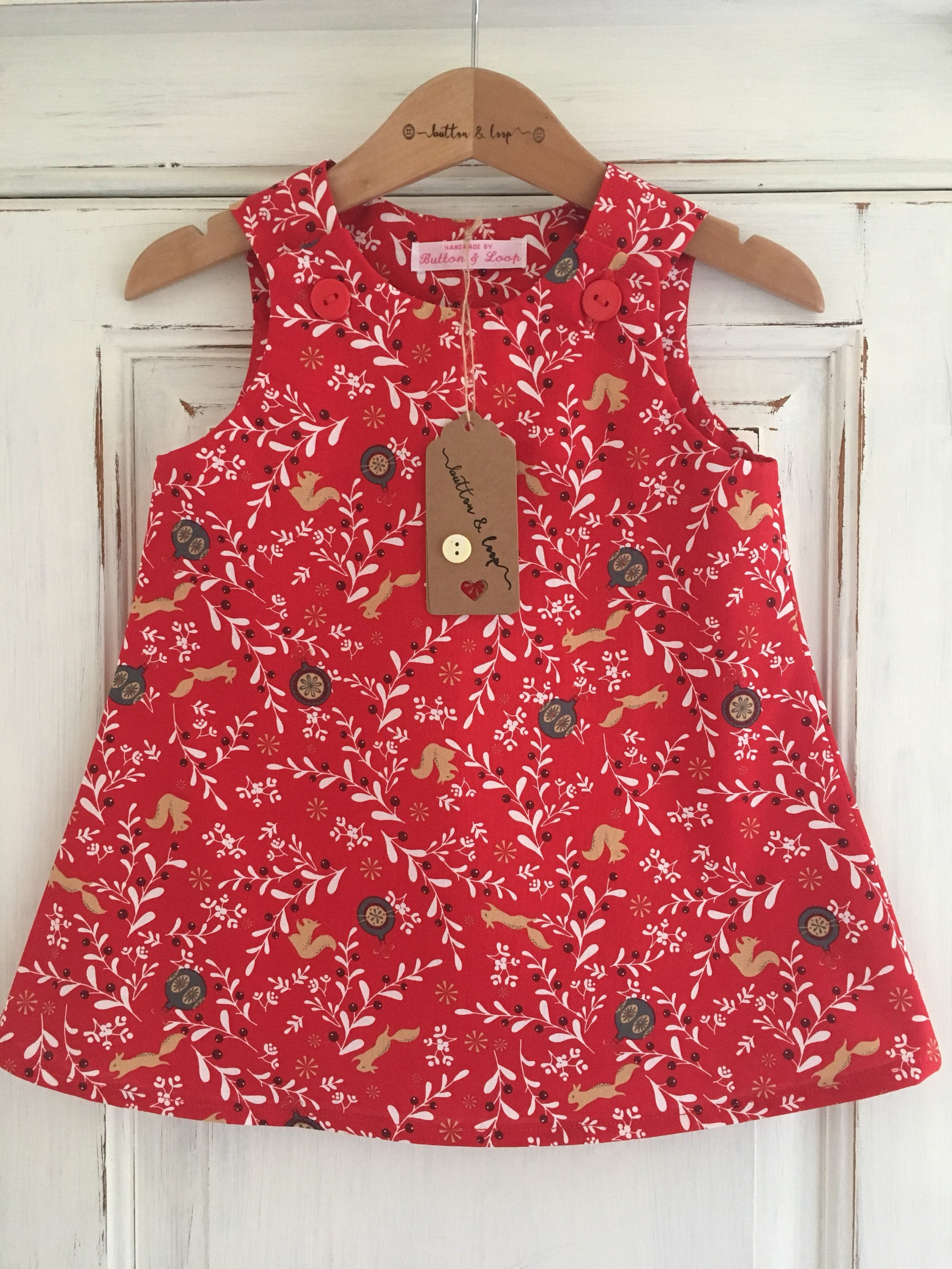 Squirrel Party Dress