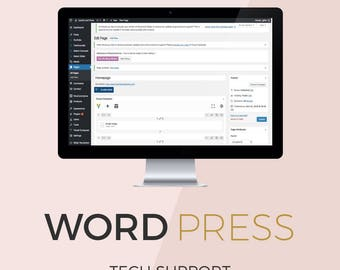 WordPress Help & Support Package: website maintenance, theme customization, design help