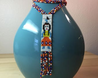 Native American Style Blanket Necklace