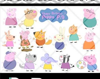 Peppa Pig Svg Etsy