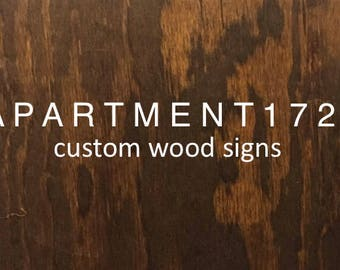 Custom Wood Signs - For Paige
