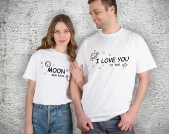 Couple Tshirt His and Her Couples Gift Family things Matchingt shirts Matching Gift for Him Gift For Her Saying T-Shirt YP1301