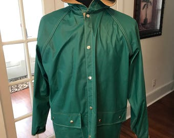 Vintage Van Heusen Hooded Rubber Rain Coat