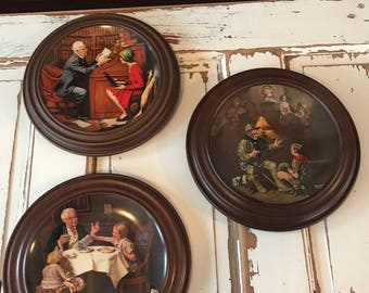 Vintage Collector Plates Norman Rockwell Heritage Collection