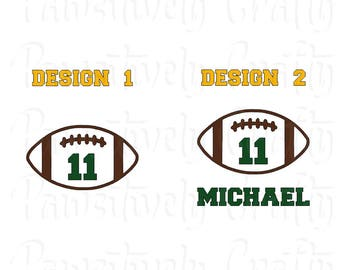 Personalized Football, Football with Name, Football Number, Football Vinyl Decal, Football Sticker, Football Player, Sports Decal, Car Decal