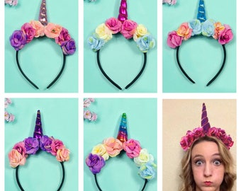 Unicorn Headband Unicorn Hair Clip Unicorn Horn Unicorn Birthday Newborn Unicorn Photo Props Girl Birthday Outfit