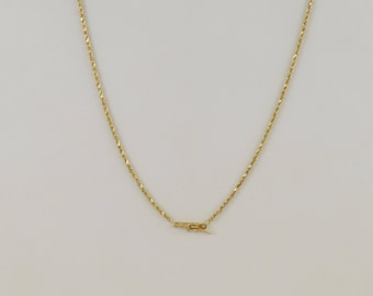 "14k Yellow Gold Rope Style Chain/necklace 24.25"" 4.8 Grams(508382920)"