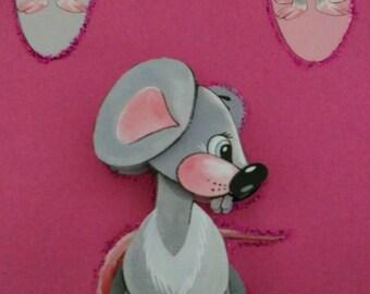 "3D card ""the little mouse"""