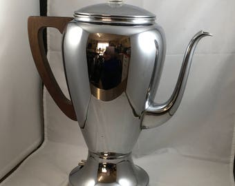 Vintage GE Electric Coffee Pot Coffee Maker Chrome 1940's-1950's