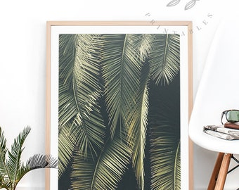 Palm Leaves Print - Palm Leaves Wall Art Tropical Palm Trees Palm Fronds Poster Leaves Art Palm Leaf Art Tropical Palm Fronds Art - Baydreem