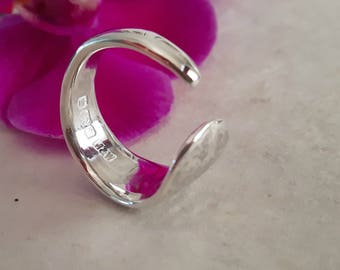Solid Sterling Silver Chunky Ring - Recycled Silver
