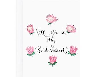 Will you be my bridesmaid card - bridesmaid card - bridesmaid proposal card