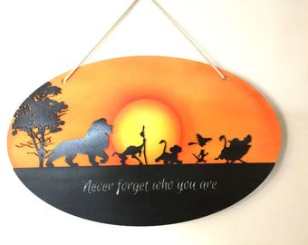 Lion King Inspired Hand Painted Wall Hanging