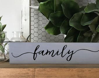 Family sign, Family wood sign, Family wooden signs, Rustic wall decor, Rustic home decor, Rustic signs, Farmhouse decor, Custom wood signs