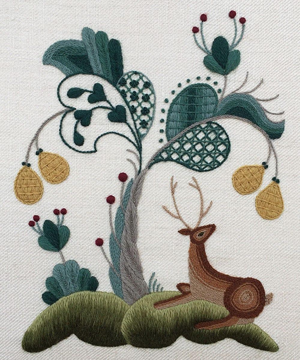 Crewel Kit The Royal Park Crewel Embroidery Kit The Royal